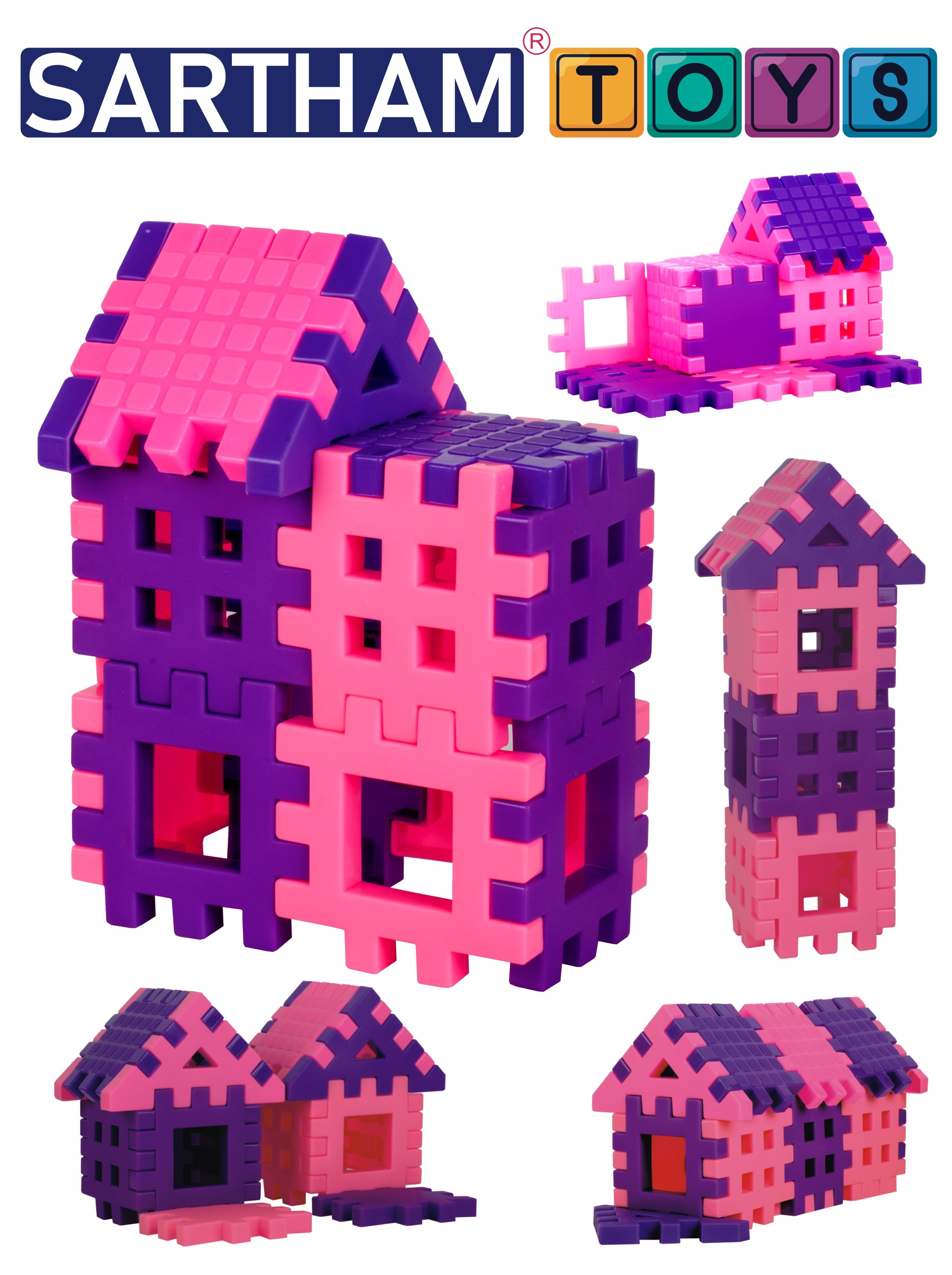 Sartham, Building Block Toy for Girl Kids, Age 3 to 10 Years (Multicolor)